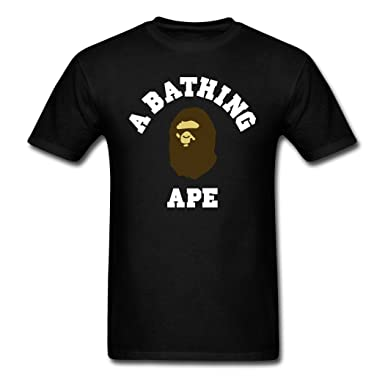 Amazon.com: Oyasumi Men's A Bathing Ape High Quality Black T-Shirt ...