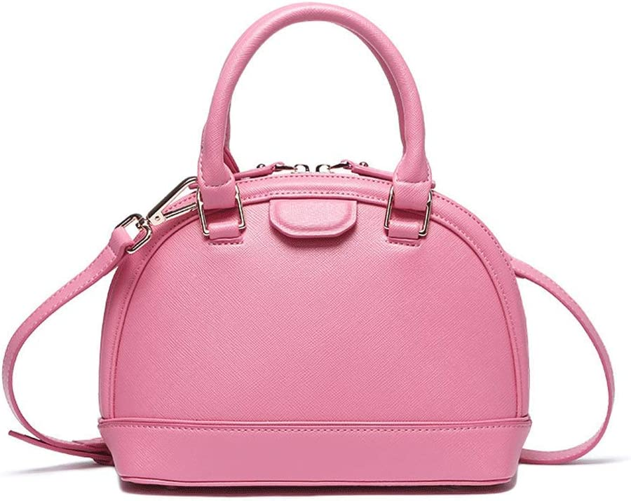 Womens Messenger Bag Shell Bag New Leather Tote Personality Shoulder Bag Color : Pink