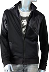 Rock & Republic Mens Pieced Applique Track Jacket