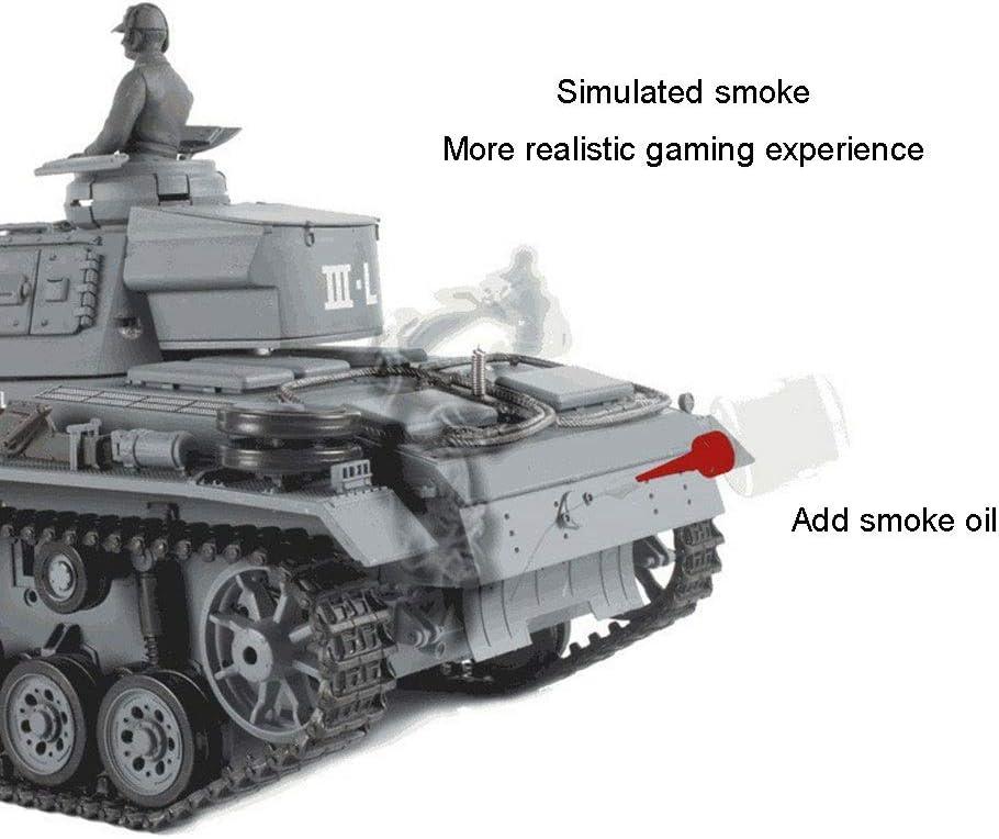Simulado Sonido//Acci/ón Y El Humo Metal Track Alem/án Tipo 3 L Tanque De 2,4 GHz De Control Remoto Modelo De Escala 1//16 AEDWQ RC Remoto del Tanque De Control Lanzamiento BB Huevo
