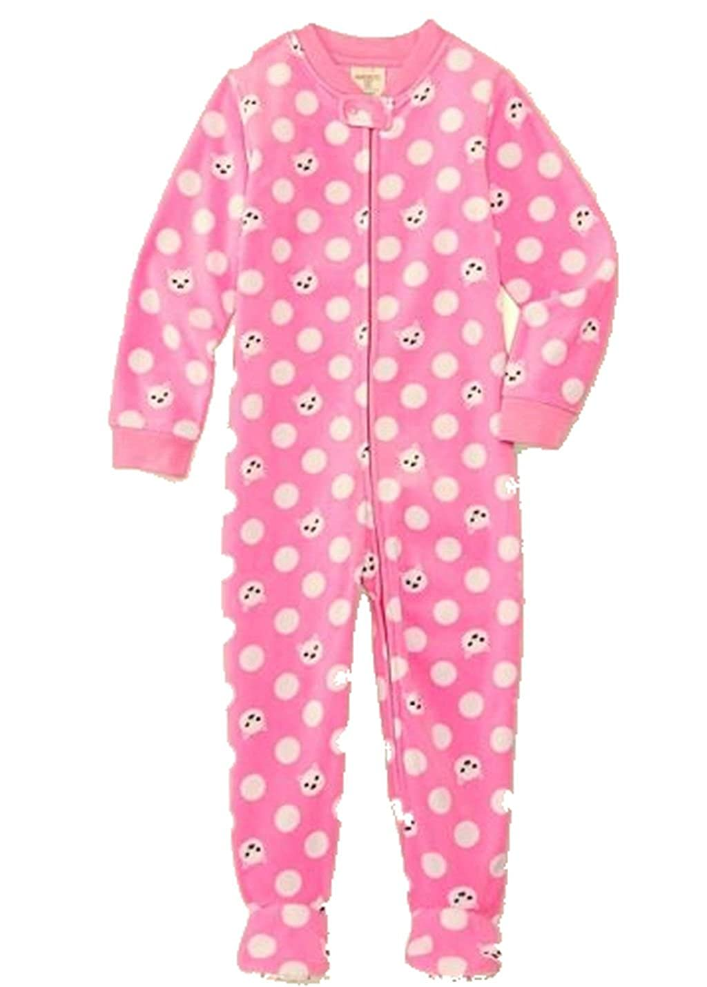 d66244738 Amazon.com  Toddler Girl s Size 4T Pink Kitty Cat Dot Footed Blanket ...