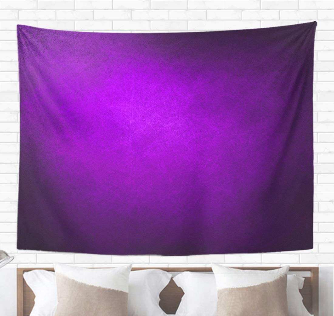 Topyee Home Decorative Tapestry Wall Hanging Abstract Purple Solid Color Bright Center Spotlight Fine Black 60