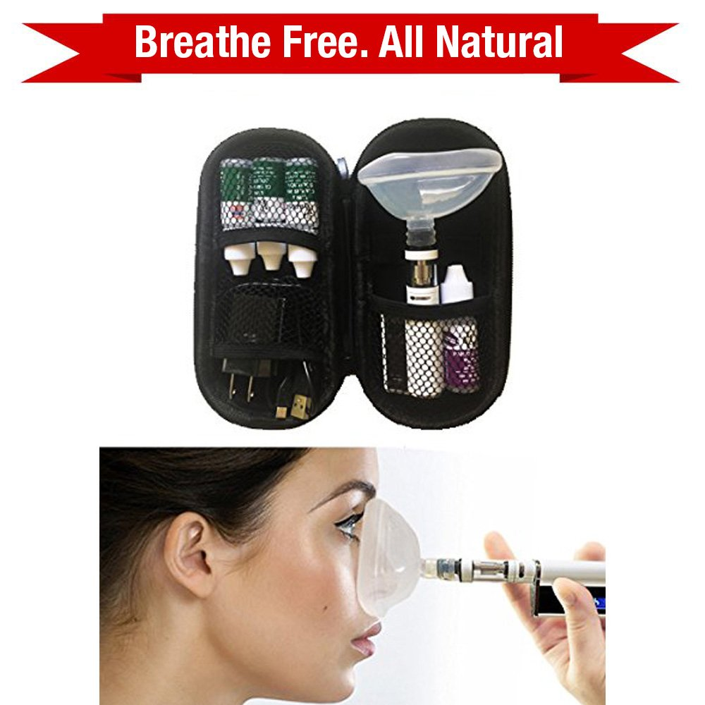 Nasal Sinus and Lung Cleanse Deluxe kit. Natural Essential Oils. Breathe easy! Provides relief from Bronchitis by V-Meds - Nano Mist