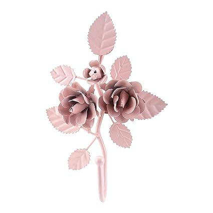Nuevo estilo Shabby Vintage Metal rosa percha gancho de ...
