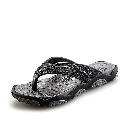 1ba331cd7ffe Yuanli Men s Rubber Sandal Massage Pool Beach Shoe Summer Flip Flops Gray