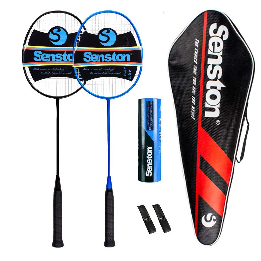 Senston Badminton Racket Set S-300 Graphite Full Carbon Badminton Racquet With Premium Quality Protective Carry Case