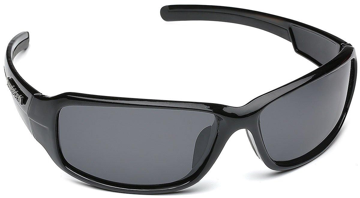 Driving Fishing Polarized Wrap Around Sports Sunglasses - Black