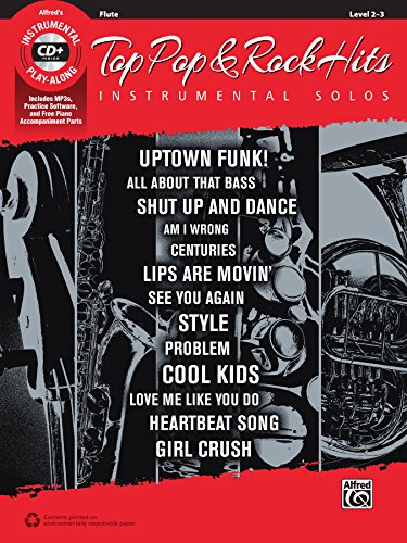 Top Pop & Rock Hits Instrumental Solos: Flute, Book & CD (Top Hits Instrumental Solos Series)