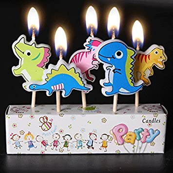 Buy Birthday Candles Kids Child Boys Girls Cute Cartoon Animals Novel Candles Dinosaur Online At Low Prices In India Amazon In