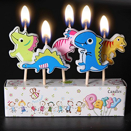 (Birthday Candles Kids Child Boys Girls Cute Cartoon Animals Novel)