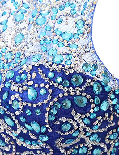 Un A Di Belle Lx206 Blu Casa Prom Di Abito roya Linea In Donne Bordatura Da Pallone Ritorno Breve Juniores Abito Casa 5Rx0UWvn