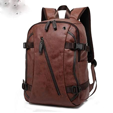 Amazon.com: Men PU Patent Leather Backpacks Men39;s Backpack Travel Bags Western College Style Bags: Computers & Accessories