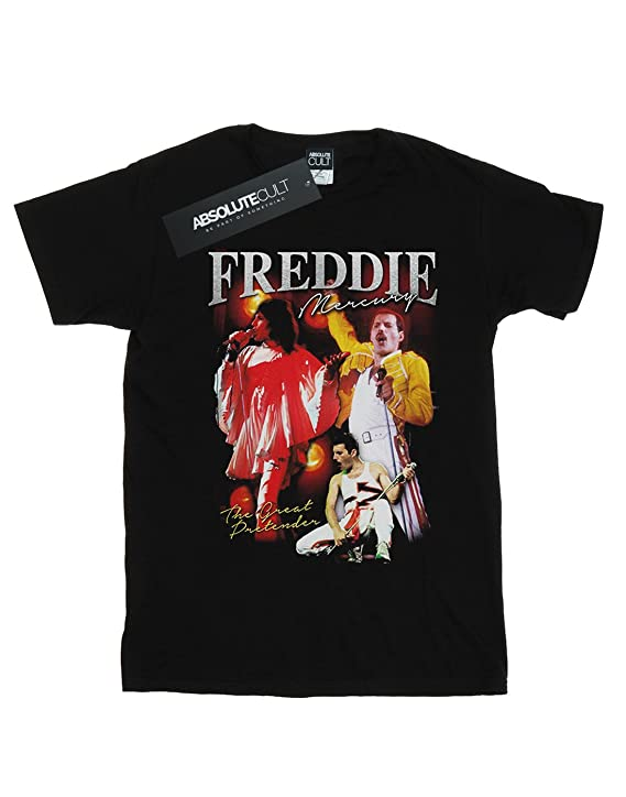 Amazon.com: Absolute Cult Queen Boys Freddie Mercury Homage T-Shirt: Clothing