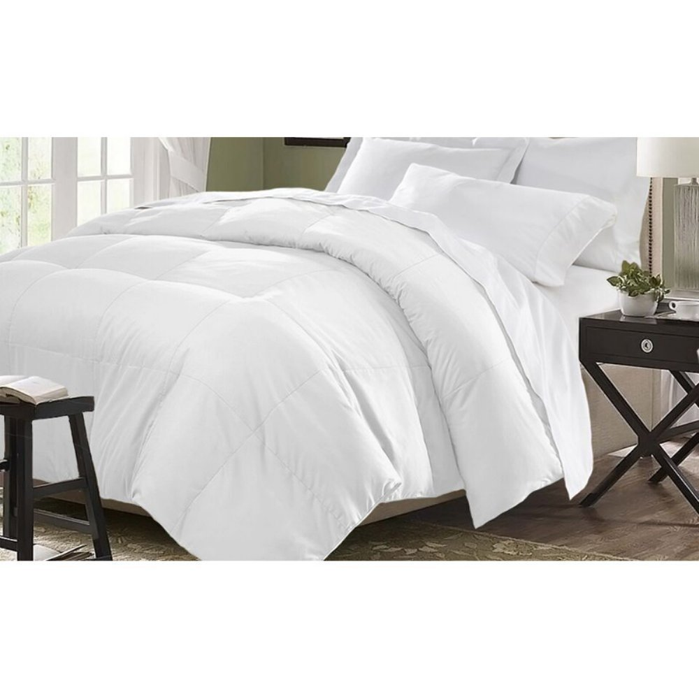 Kathy Ireland Home KI030019 Essentials Microfiber Down Comforter, White, Twin