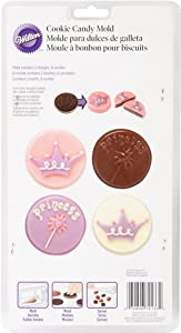 Wilton Cookie Candy Mold, Princess, 8 Cavities