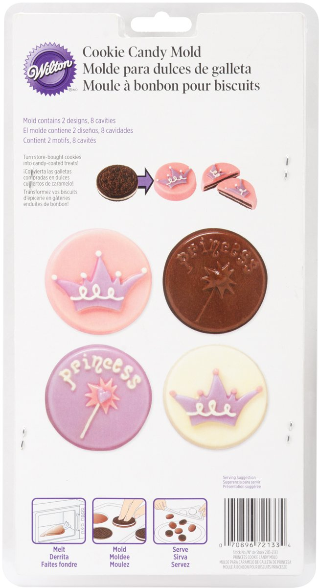 Amazon.com: Wilton Cookie Candy Mold, Princess, 8 Cavities: Candy Making Molds: Kitchen & Dining