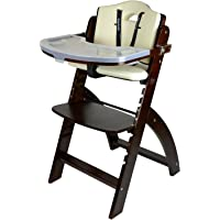 Abiie Beyond Wooden High Chair with Tray. The Perfect Adjustable Baby Highchair Solution for Your Babies and Toddlers or…