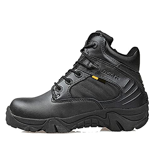 LiliChan Mens Tactical Boots Delta Side Zip Uniform Military Work Ankle Boots  8JUGHLKKF