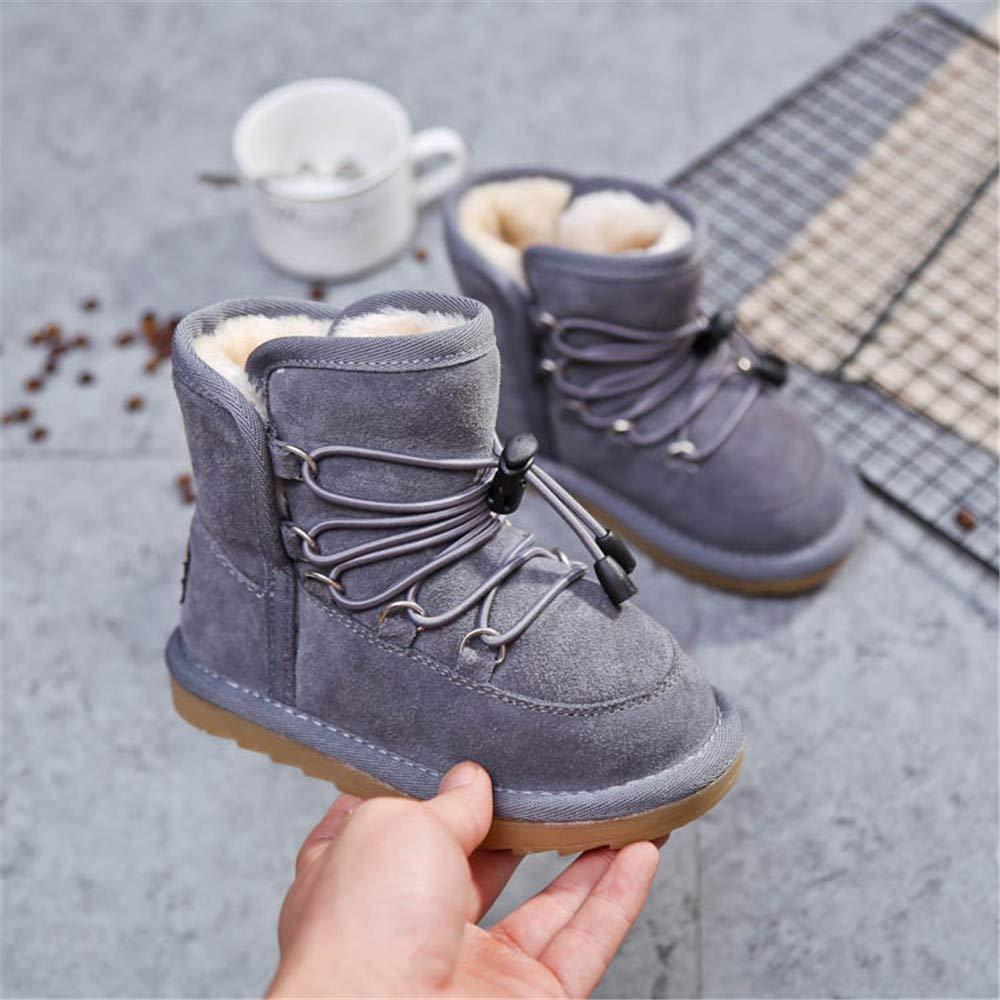 MODEOK Winter Baby Girl Cute Waterproof Warm Boot Leather Shoes Outwear