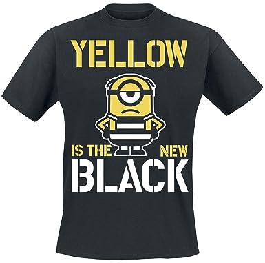 2aa2f3b0ae2d MINIONS Yellow is The New Black T-Shirt Black  Amazon.co.uk  Clothing