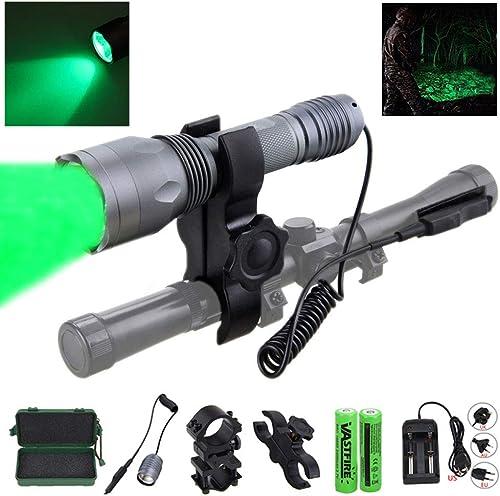 Vastfire 350 Yard Cree LED Green Flashlight Kit