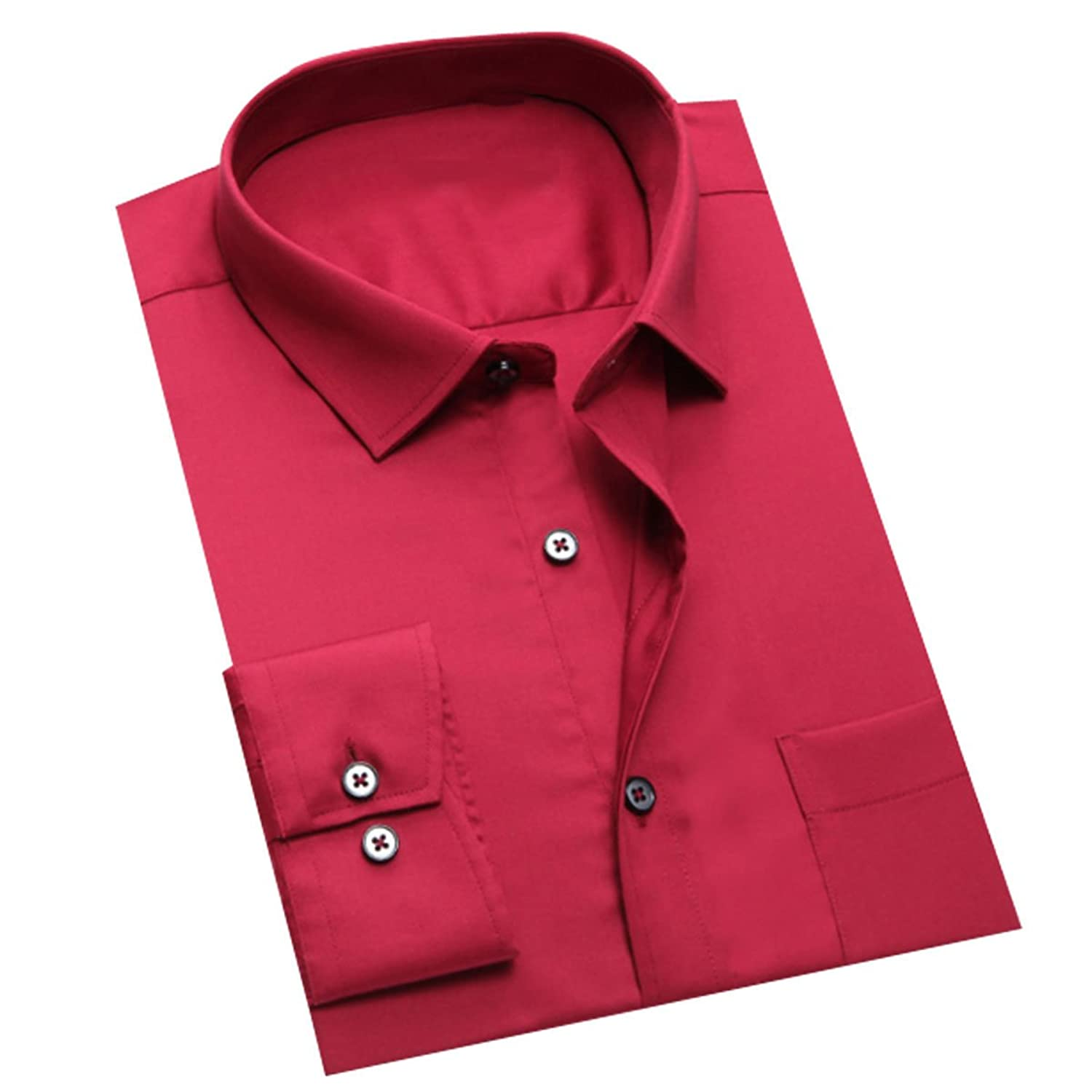 Men 's Long - Sleeved Business Solid Color Business Wear Shirts