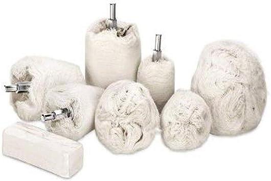 JIUY 6 mm Vástago de algodón pulido ruedas de tela para pulir la ...