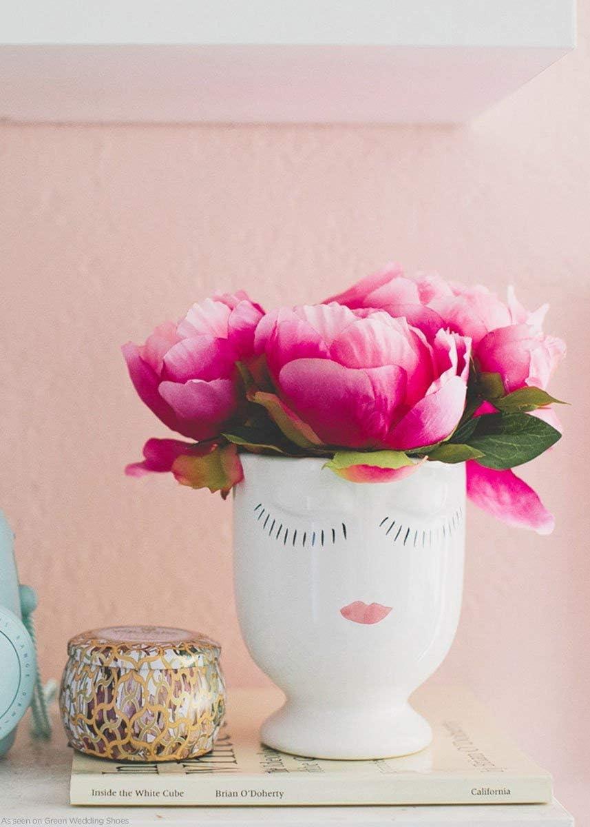 Afloral Celfie Vase 4 x5.25Medium, White