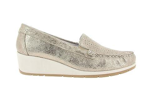 Imac Mocasin de Vestir - Oro Cuero Mujer Oro 41: Amazon.es: Zapatos y complementos