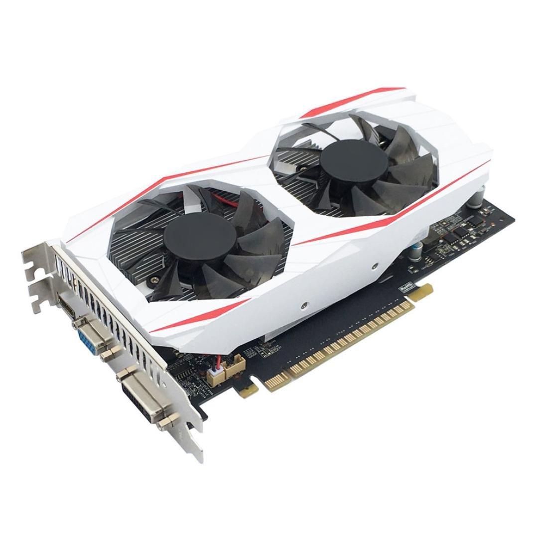 YIYEZI GTX 750Ti 2GB GDDR5 192bit VGA DVI HDMI Graphics Card With Fan For NVIDIA GeForce (White) by YIYEZI (Image #1)