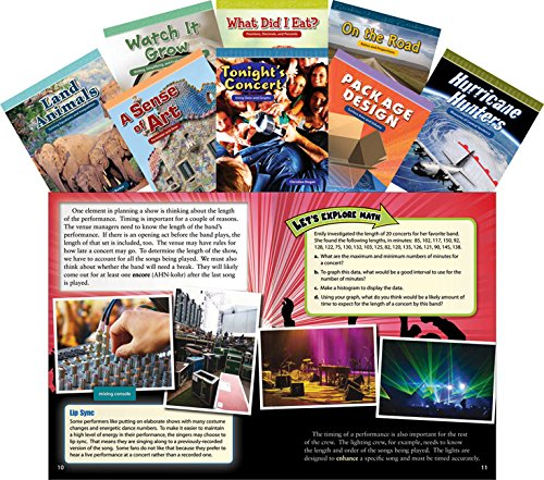 (Teacher Created Materials - Mathematics Readers for Middle School Set 2 - 8 Book Set - Grades 6-8 - Guided Reading Level X - Y)