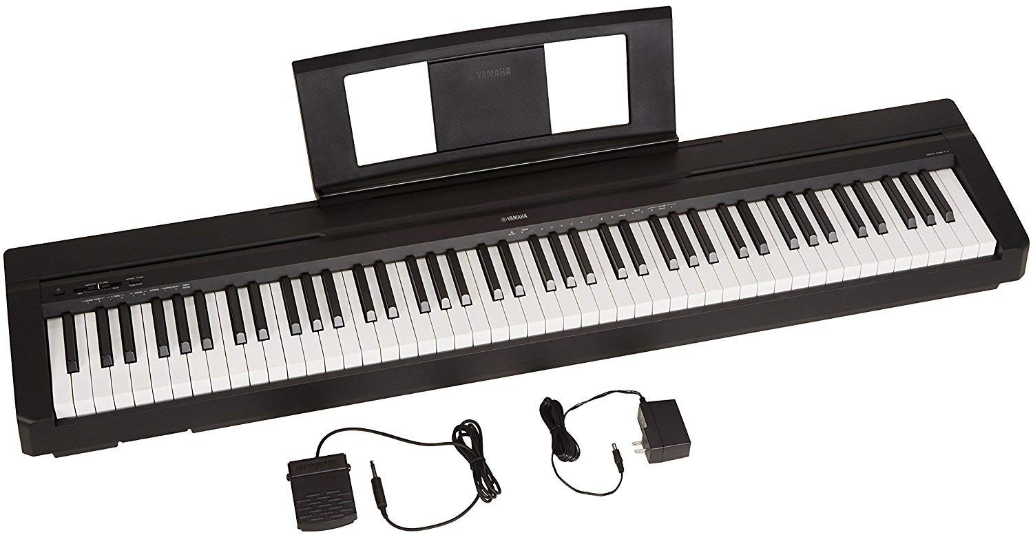 Yamaha P71 88-Key Weighted Action Digital Piano with Sustain Pedal and Power Supply (Amazon-Exclusive) (Renewed)