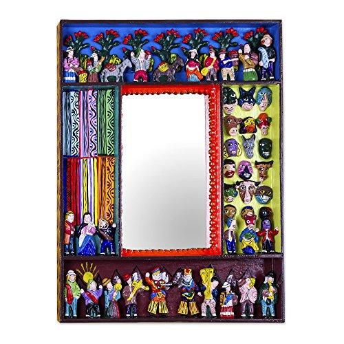 NOVICA MI0002 Scenes from The Andes Mirror
