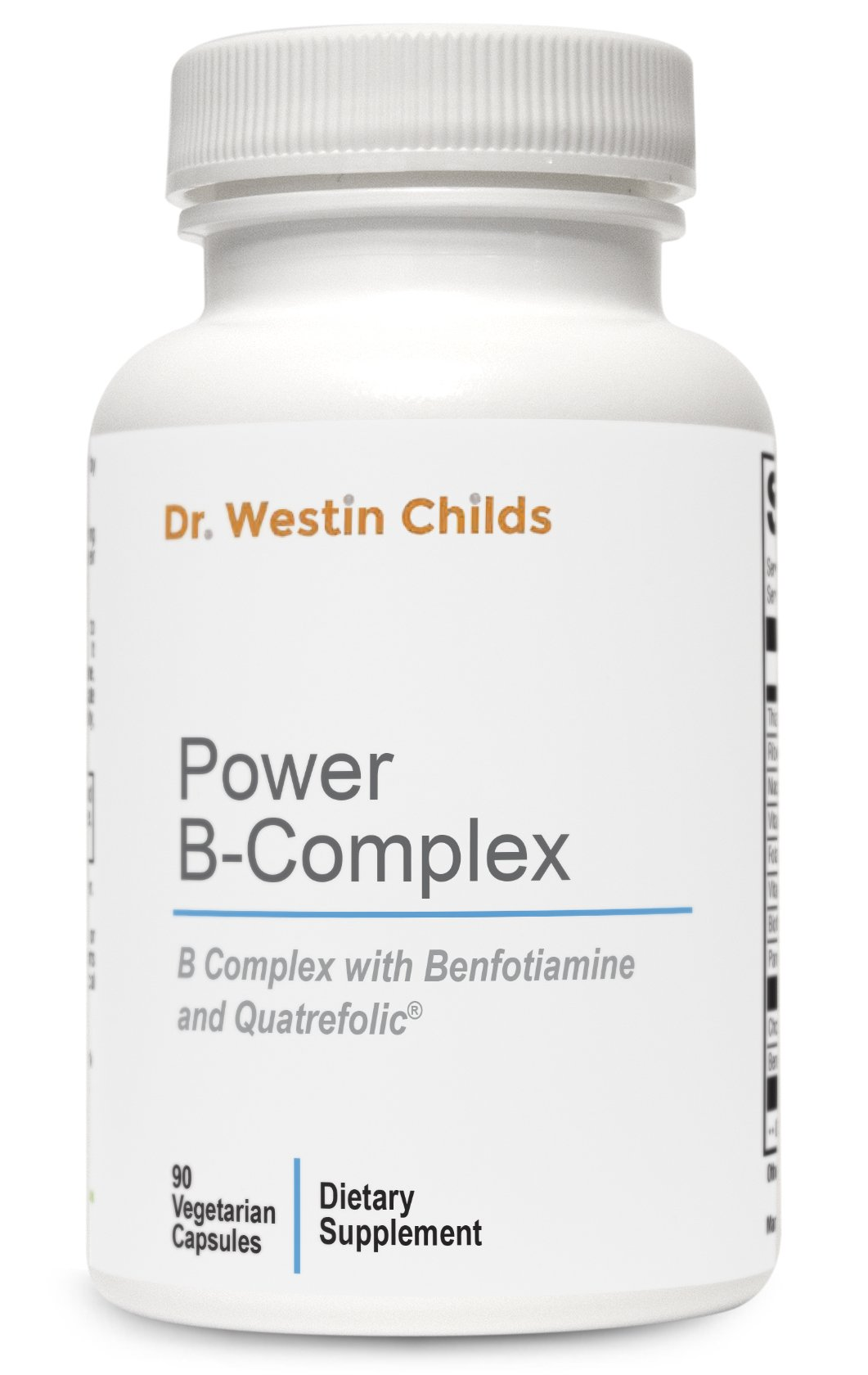 Power B-Complex - Highly Absorbed, Pre-Methylated B Spectrum Vitamins + Benfotiamine Designed to Help Support Energy, Adrenal Function & The Stress Reponse - 45 Day Supply