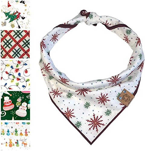 Bark.Bark.Goose. Colorful Designer Dog Bandanas in Sizes S, M, L, and XL Includes 1 Bandana