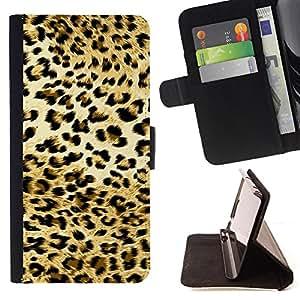 - Golden Animal Print Jaguar Spots - Estilo PU billetera de cuero del soporte del tir???¡¯????n [solapa de cierre] Cubierta- For LG G2 D800 £¨ Devil Case £©