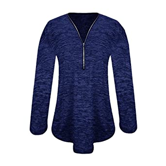 Mujeres con Cuello en V Tops SunGren SunGren Blusa Suelta de Camisa Casual Camisa Túnica Tops Suelto Camisa: Amazon.es: Ropa y accesorios