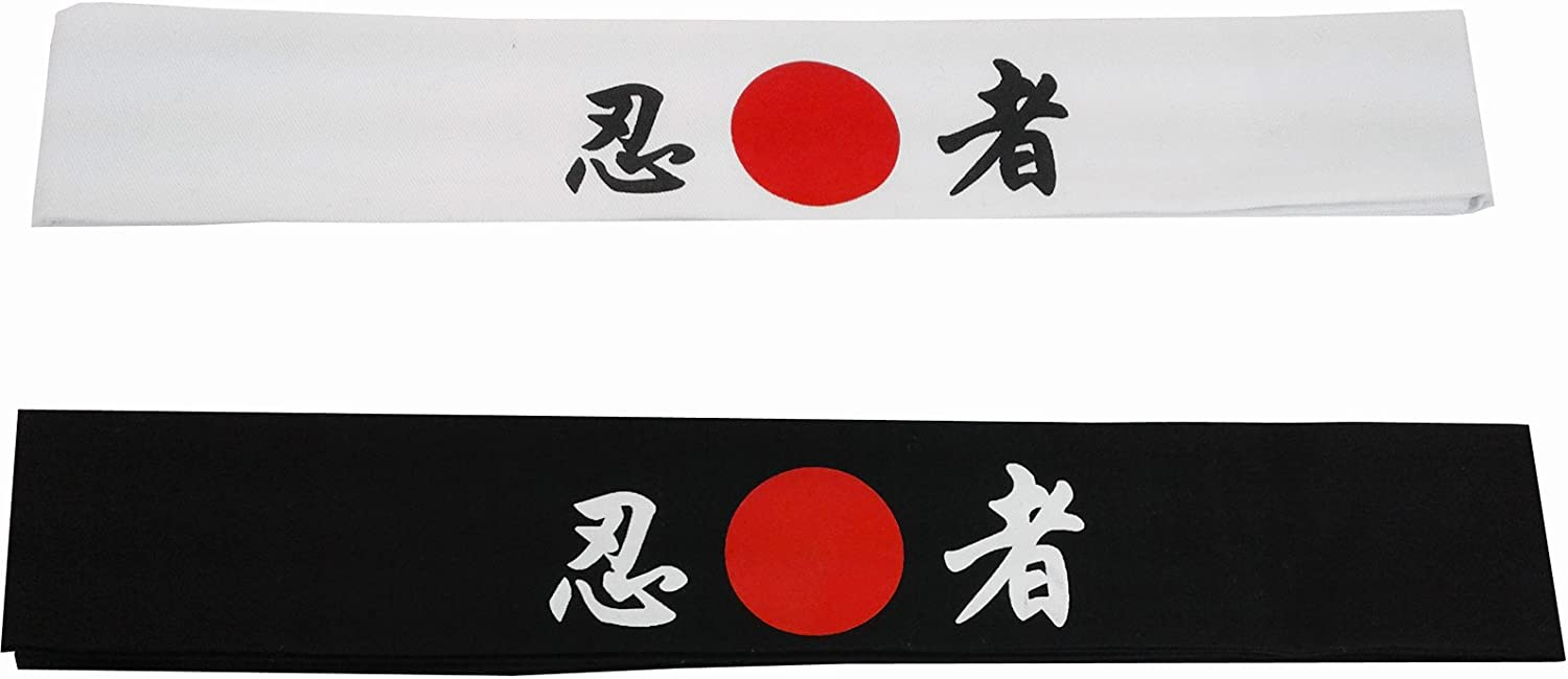 Sunrise Kitchen Supply Tie on Headband Black for Sports/Exercise/Cooking - Ichiban
