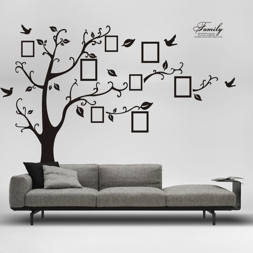 Wall Décor Stickers - YYY Family Tree with Birds and Photo Frames Art Sticker by YYY (Image #6)