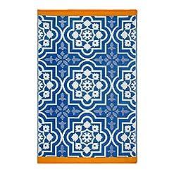 Garden and Outdoor Fab Habitat Reversible Rugs | Indoor or Outdoor Use | Stain Resistant, Easy to Clean Weather Resistant Floor Mats… outdoor rugs