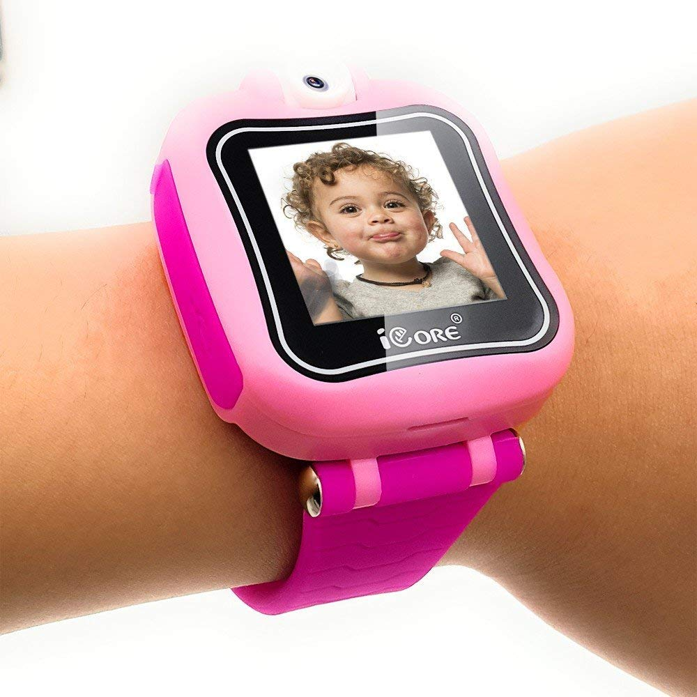 iCore Durable Kids Smartwatch, Electronic Child Smart Watch Video Games, Children Digital Tech Watches, Touch Screen Learning Timer Alarm Clock with Camera for Girls Boys by iCore (Image #8)
