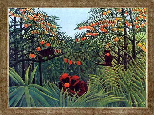 Henri Rousseau Apes in The Orange Grove ()