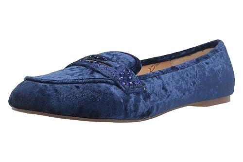 Fitters Footwear, Ballerine donna Velvet blu Navy Velvet donna     Scarpe 66c768