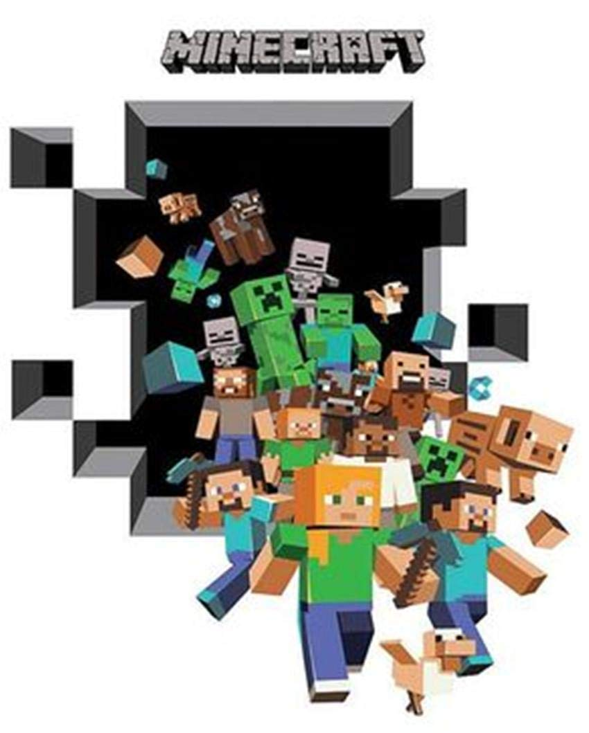 Personality Minecraft Creeper 3d Wall Decalcling Home Decor