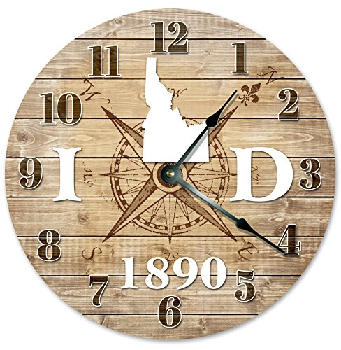 IDAHO CLOCK Established in 1890 Decorative Round Wall Clock Home Decor Large 10.5