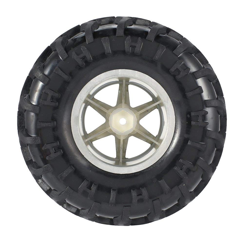 GreatWall AUSTAR 4 unids 125 mm llanta llanta de Goma Rueda neum/ático para 1//10 RC Big Feet Cars Modelo Silver