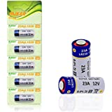 Pack of 5 A23 Battery 12V Alkaline 60 mAh [Ultra Power] - 12 Volt for Garage Doors Opener, Ceiling Fans & Wireless…