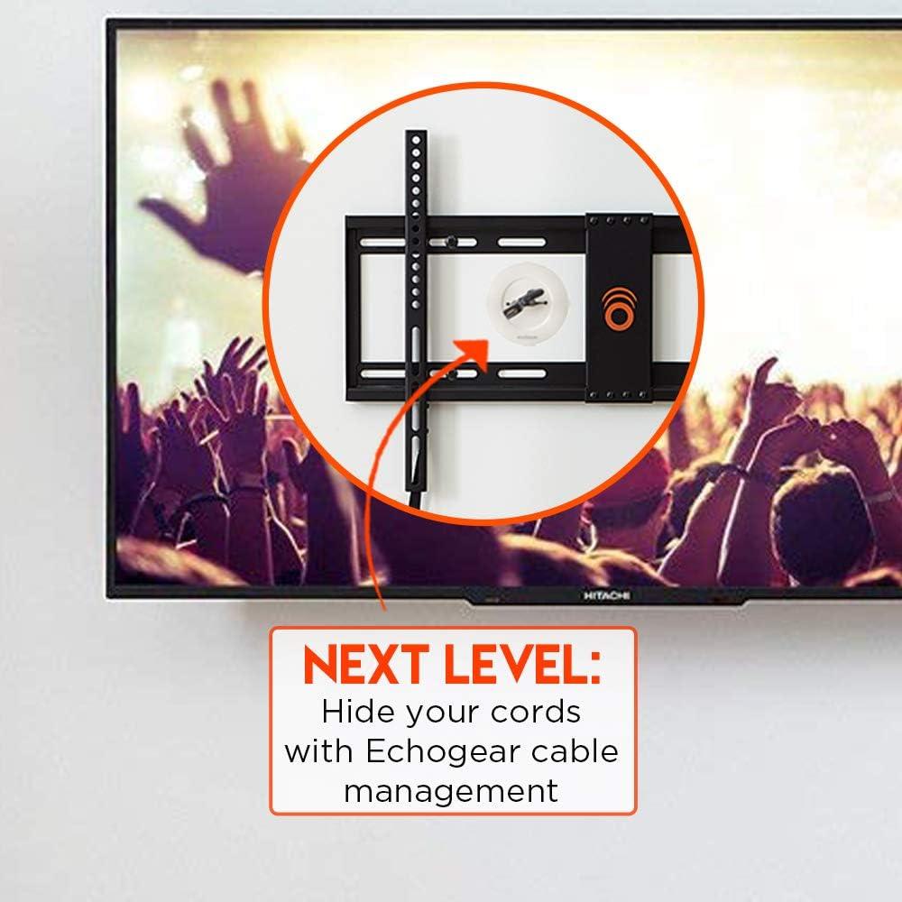 ECHOGEAR bajo perfil fijo soporte de pared para televisor soporte ...