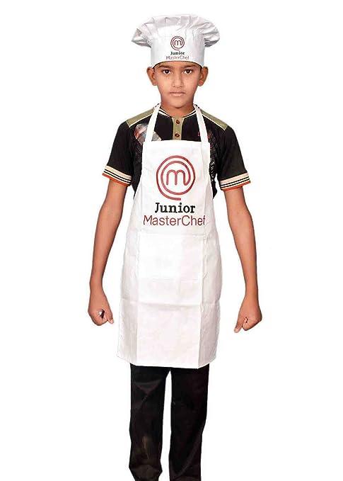 Sterling Smart® Junior Master colore bianco grembiule e cappello da cuoco  novità grembiule db10f9498081