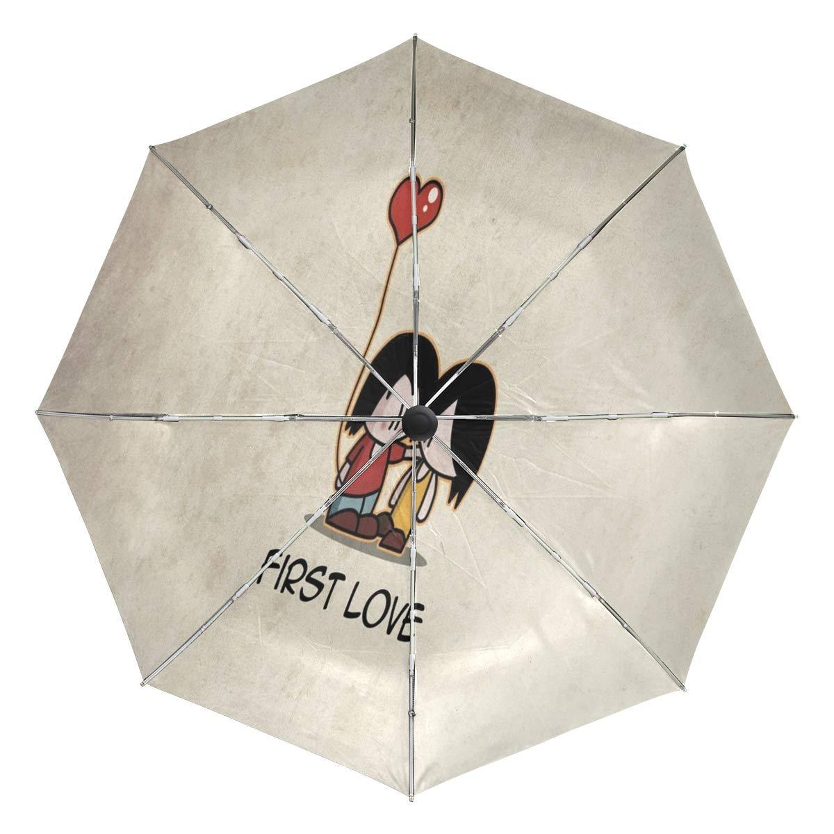 Paraguas de Viaje Resistente al Viento, Bigote Tatuaje Negro ...